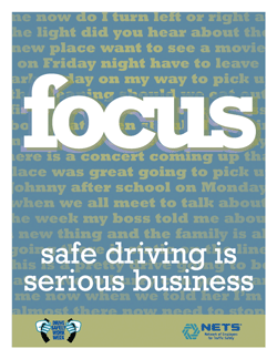 Focus: Safe Driving is Serious Business Poster
