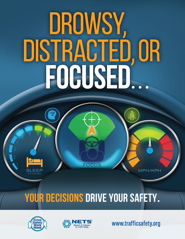 Drowsy, Distracted, or Focused...Your Decisions Drive Your Safety